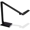 Ledu Triple Hinge USB Desk Lamp - 8 W LED Bulb - USB Charging, Adjustable Brightness - 500 Lumens - Desk Mountable - Black - for Desk, Table