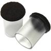 "Lorell Clear Sleeve Floor Protectors - 1.63"" Diameter - Round - Clear - 8/Bag"