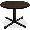 "Lorell Hospitality Espresso Laminate Round Tabletop - Round Top - 1"" Table Top Thickness x 36"" Table Top Diameter - Assembly Required - Espresso, High Pressure Laminate (HPL) - Particleboard"