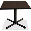 "Lorell Hospitality Espresso Laminate Square Tabletop - Square Top - 42"" Table Top Length x 42"" Table Top Width x 1"" Table Top Thickness - Assembly Required - Espresso, High Pressure Laminate (HPL) - P"