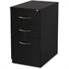"Lorell Premium Mobile BBF Pedestal File - 15"" x 22.9"" x 27.8"" - 3 x Box Drawer(s), File Drawer(s) - Material: Steel - Finish: Black"