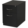 "Lorell Premium Mobile BF Pedestal File - 15"" x 19.9"" x 23.8"" - 2 x Drawer(s) for Box, File - Letter - Pencil Tray, Ball-bearing Suspension, Drawer Extension, Durable - Black - Recycled"