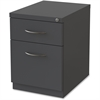 "Lorell Premium Mobile BF Pedestal File - 15"" x 19.9"" x 23.8"" - 2 x Drawer(s) for Box, File - Letter - Pencil Tray, Ball-bearing Suspension, Drawer Extension, Durable - Charcoal - Recycled"