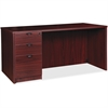 "Lorell Prominence 79000 Mahogany Left Desk Pedestal - 71"" x 36"" x 29"" - 3 x Box Drawer(s), File Drawer(s) - Single Pedestal on Left Side - Material: Particleboard - Finish: Mahogany, High Pressure Lam"