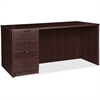 "Lorell Prominence 79000 Espresso Left Desk Pedestal - 71"" x 36"" x 29"" - 3 x Box Drawer(s), File Drawer(s) - Single Pedestal on Left Side - Material: Particleboard - Finish: Espresso, High Pressure Lam"