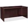 "Lorell Prominence 79000 Espresso Desk with Right Pedestal - 66"" x 30"" x 29"" - 2 x Box Drawer(s), File Drawer(s) - Single Pedestal on Right Side - Material: Particleboard - Finish: Espresso, High Press"