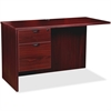 "Lorell Prominence 79000 Mahogany Left Pedestal Return - 42"" x 24"" x 29"" - 2 x Box Drawer(s), File Drawer(s) - Single Pedestal - Material: Particleboard - Finish: Mahogany, High Pressure Laminate (HPL)"