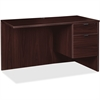 "Lorell Prominence 79000 Espresso Right Pedestal Return - 42"" x 24"" x 29"" - 2 x File Drawer(s), Box Drawer(s) - Single Pedestal on Right Side - Material: Particleboard - Finish: Espresso, Thermofused M"