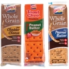 Lance Cracker Sandwiches Variety Pack - Low Fat - Peanut Butter, Cheddar Cheese - 1 Serving Pack - 24 / Box