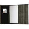 Mayline Gray Laminate Presentation Bulletin Board - White Surface - 1 Each