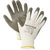 NORTH Safety Workeasy Dyneema Cut Resist Gloves - Polyurethane Coating - Medium Size - High Performance Polyethylene (HPPE) Liner - Gray, Light Gray - Cut Resistant, Flexible, Abrasion Resistant, Ligh