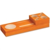 "Orange Splash Wood Desk Set - 2.3"" Height x 10.6"" Width x 3.5"" Depth - Desktop - Orange - Pine Wood - 1 / Set"