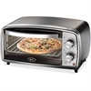 Oster Toaster Oven - 1000 W - Toast, Broil, Bake, Bagel, Roast - Brushed Stainless Steel