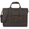 "Solo Executive Carrying Case (Briefcase) for 15.6"" Notebook - Black, Gray - Damage Resistant - Cotton, Vinyl - Shoulder Strap, Handle - 12"" Height x 16"" Width x 3"" Depth"