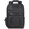 "Solo Executive Carrying Case (Backpack) for 15.6"" Notebook - Black, Gray - Scratch Resistant - Cotton, Vinyl - Shoulder Strap - 17"" Height x 12"" Width x 5"" Depth"