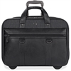 "Solo Executive Carrying Case (Roller) for 17.3"" Notebook - Black, Gray - Scratch Resistant - Cotton, Vinyl - Handle - 14"" Height x 17.8"" Width x 6.3"" Depth"