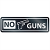 U.S. Stamp & Sign No Guns Window Sign - 1 Each - NO GUNS Print/Message - Rectangular Shape - Self-adhesive, Removable - White, Clear