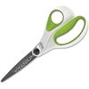 "Acme United Carbo Titanium Straight Scissors - 8"" Overall Length - Pointed - Straight - Titanium - Gray"