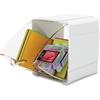 "Deflect-o Tilt Desktop Storage Bin - 2.2"" Height x 5.3"" Width x 4.7"" Depth - Desktop, Wall Mountable - White - 4 / Box"