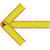"Deflect-o Reflective Safety Arrow - 1 Each - 18"" Width x 2.8"" Height - Arrow Shape - Magnetic, Foldable, Hole Punch - Orange"