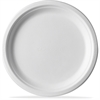 "Eco-Products Sugarcane Plates - 9"" Diameter Plate - Sugarcane Fiber - Microwave Safe - White - 500 Piece(s) / Carton"