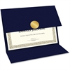 Geographics Double-fold Certificate Holder - 5 / Pack - Navy