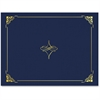 "Geographics Gold Foil Border Certificate Holder - Letter - 8 1/2"" x 11"" Sheet Size - Linen - Blue, Gold - Recycled - 5 / Pack"