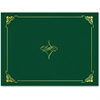 "Geographics Gold Foil Border Certificate Holder - Letter - 8 1/2"" x 11"" Sheet Size - Hunter Green, Gold - Recycled - 5 / Pack"