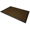 "Genuine Joe WaterGuard Floor Mat - 10 ft Length x 36"" Width - Rectangle - Rubber - Brown"