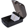Lorell Desktop Business Card File - 350 Card - Black, Clear