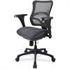 "Lorell Mid-back Fabric Seat Chairs - Plastic Black Frame - 5-star Base - Black - Fabric - 20.10"" Seat Depth - 25.6"" Width x 20.1"" Depth x 23.4"" Height"