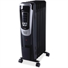 Lorell Mobile LED Display Radiator Heater - Electric - Electric - 600 W to 1.50 kW - 3 x Heat Settings - 150 Sq. ft. Coverage Area - 1500 W - Black