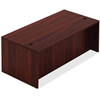 "Lorell Chateau Series Mahogany Laminate Desking - 66.1"" x 29.5"" x 30"" Table, Table Top - Reeded Edge - Material: P2 Particleboard - Finish: Mahogany Laminate"