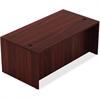 "Lorell Chateau Series Mahogany Laminate Desking - 59"" x 29.5"" x 30"" Table, Table Top - Reeded Edge - Material: P2 Particleboard - Finish: Mahogany Laminate"