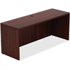 "Lorell Chateau Series Mahogany Laminate Desking - 66.1"" x 23.6"" x 30"" Credenza, Top - Reeded Edge - Material: P2 Particleboard - Finish: Mahogany, Laminate"