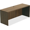 "Lorell Chateau Series Walnut Laminate Desking - 66.1"" x 23.6"" x 30"" Credenza, Top - Reeded Edge - Material: P2 Particleboard - Finish: Walnut, Laminate"