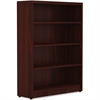 "Lorell Chateau Bookshelf - Top, 36"" x 11.6"" x 48.5"" Bookshelf - 4 Shelve(s) - Reeded Edge - Material: P2 Particleboard - Finish: Mahogany, Laminate Surface"