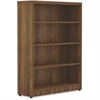 "Lorell Chateau Bookshelf - Top, 36"" x 11.6"" x 48.5"" Bookshelf - 4 Shelve(s) - Reeded Edge - Material: P2 Particleboard - Finish: Walnut, Laminate"