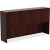 "Lorell Chateau Series Mahogany Laminate Desking - 70.9"" x 14.8"" x 36.5"" Hutch, Top - Drawer(s)4 Door(s) - Reeded Edge - Material: P2 Particleboard - Finish: Mahogany, Laminate"