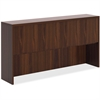 "Lorell Chateau Series Mahogany Laminate Desking - 66.1"" x 14.8"" x 36.5"" Hutch, Top - Drawer(s)4 Door(s) - Reeded Edge - Material: P2 Particleboard - Finish: Mahogany, Laminate"