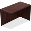 "Lorell Chateau Series Mahogany Laminate Desking - 47.3"" x 23.6"" x 30"" Desk, Top - Reeded Edge - Material: P2 Particleboard - Finish: Mahogany, Laminate"