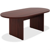 "Lorell Chateau Series Mahogany 6' Oval Conference Table - 70.9"" x 35.4"" x 30"" Table, Top - Reeded Edge - Material: P2 Particleboard - Finish: Mahogany Laminate"