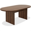 "Lorell Chateau Series Walnut Oval 6' Conference Table - 70.9"" x 35.4"" x 30"" Table, Table Top - Reeded Edge - Material: P2 Particleboard - Finish: Walnut Laminate"
