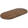 "Lorell Chateau Series Walnut 8' Oval Conference Tabletop - 94.5"" x 47.3"" x 1.4"" - Reeded Edge - Material: P2 Particleboard - Finish: Walnut Laminate"