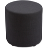 "Lorell Fabric Cylinder Chair - Plywood16.8""18"" - Fabric Black Seat"