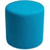 "Lorell Fabric Cylinder Chair - Plywood16.8""18"" - Fabric Cyan Seat"