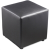 "Lorell Leather Cube Chair - Plywood18"" x 18"" x 18"" - Leather"