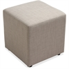 "Lorell Fabric Cube Chair - Plywood18"" x 18"" x 18"" - Fabric Slate Seat"