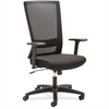 "Lorell Mesh High-back Swivel Chair - Fabric Seat - 5-star Base - Black - 46"" Width x 25.9"" Depth x 25.1"" Height"