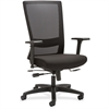 "Lorell Mesh High-back Seat Slide Chair - Fabric Seat - 5-star Base - Black - 46"" Width x 28.3"" Depth x 26.2"" Height"